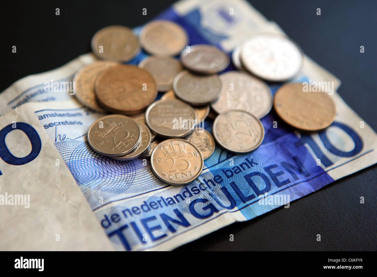 Gulden Banknoten Und Münzen Die Offizielle Währung Der Niederlande
