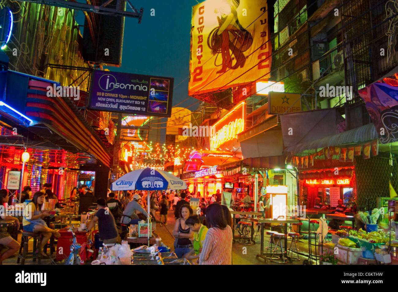 Soi Cowboy, Nachtleben Center, Bars, Bangkok, Thailand Stockbild