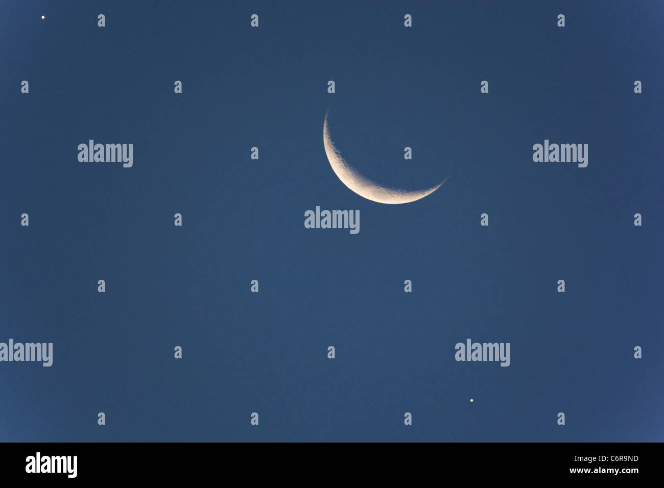 Mond-Venus-Jupiter Stockbild