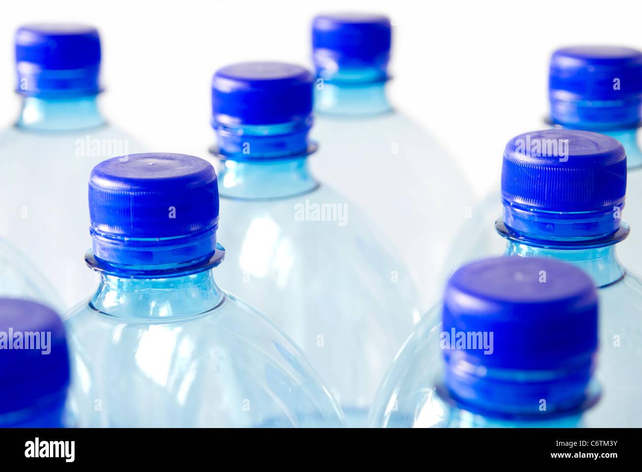 Kunststoff-Flaschen für Recycling Stockbild