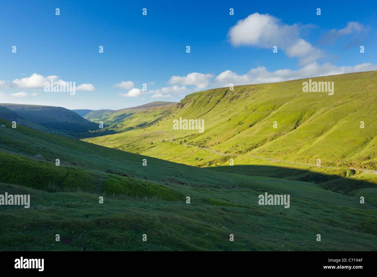 Evangelium-Pass. Die schwarzen Berge. Brecon Beacons National Park. Powys. Wales. VEREINIGTES KÖNIGREICH. Stockbild