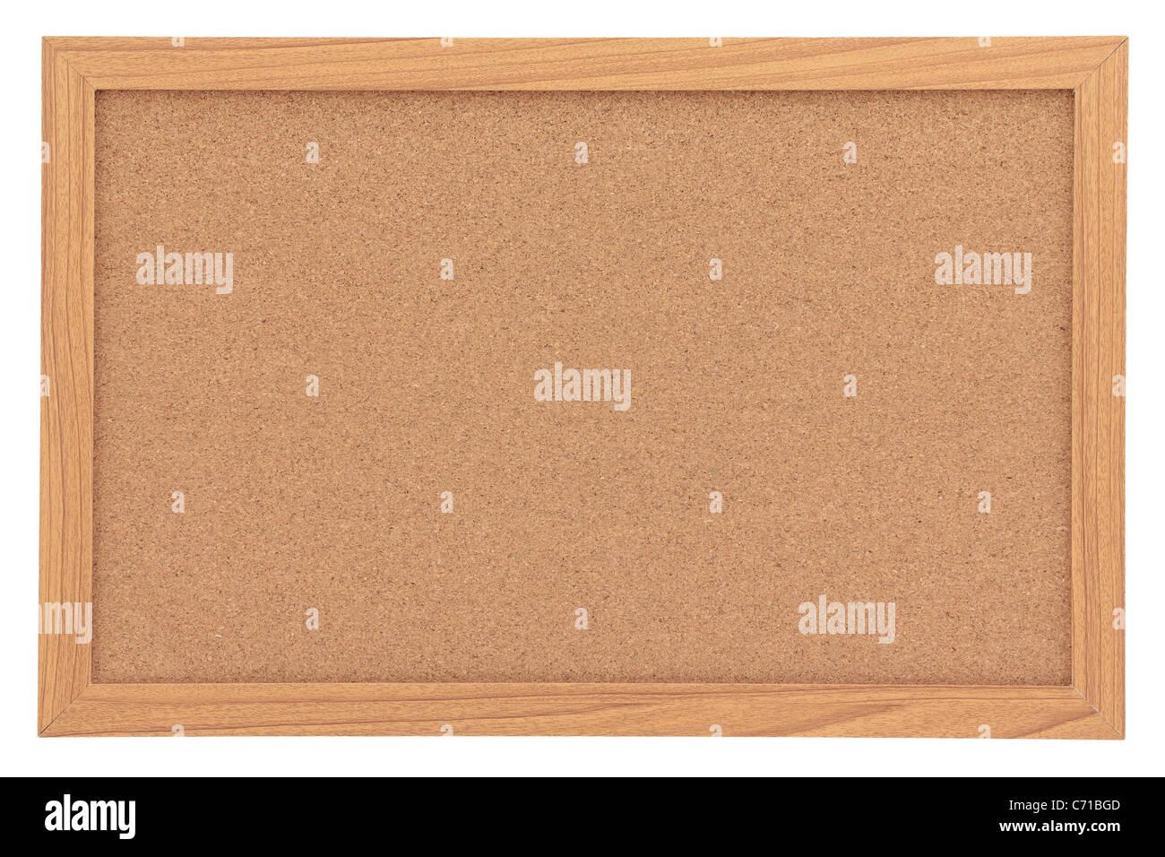Leere Kork Pinnwand mit Rahmen, Isolated on White Stockfoto, Bild ...