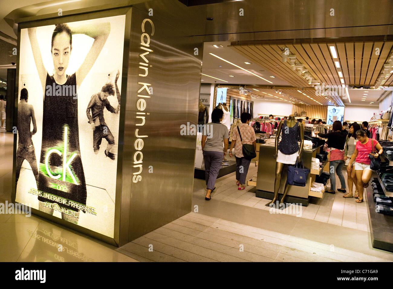 Calvin Klein Jeans speichern, Ion Mall, Singapur Asien Stockbild