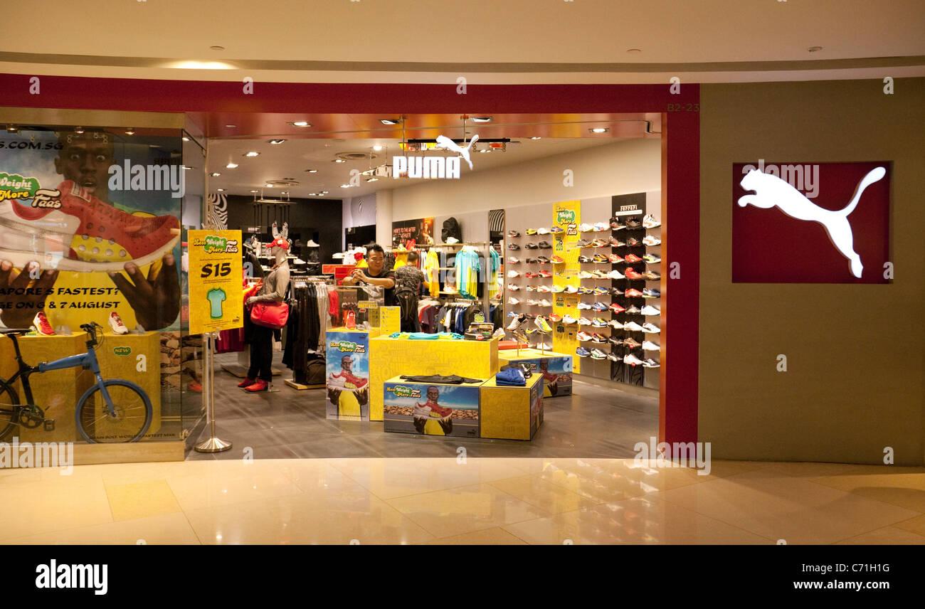PUMA Sport Ausrüstung Shop außen, Ionen Mall Singapur Asien