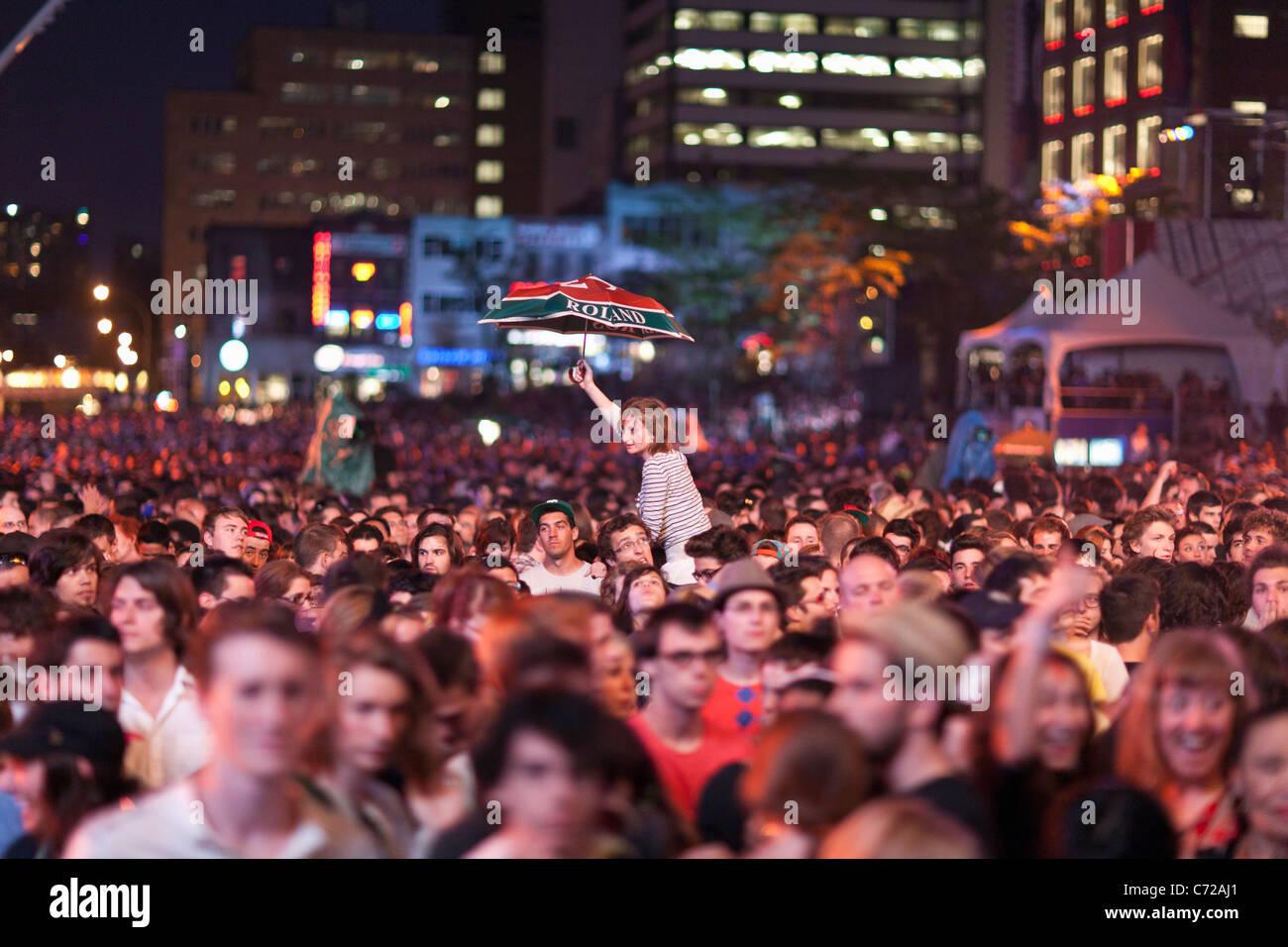 Kanada, Quebec, Montreal, Montreal Jazzfestival, Menschenmenge Stockbild
