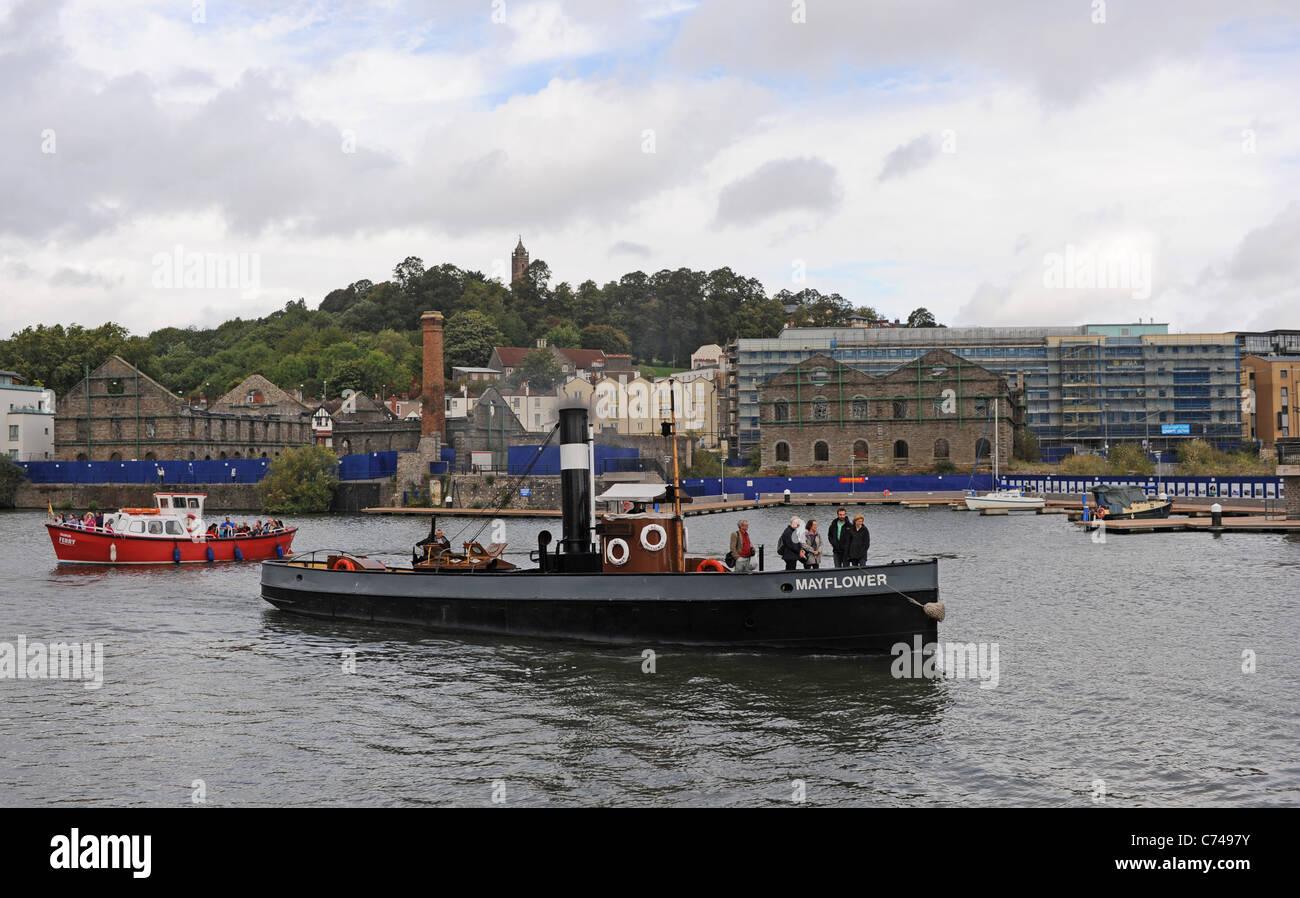 Mayflower ist die älteste Dampfschiffes fotografiert hier im Hafen von Bristol und dockt UK Stockbild