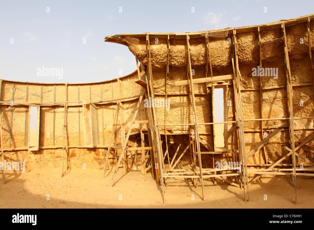 Die Kulisse für den Film Star Wars in Tunesien Stockbild