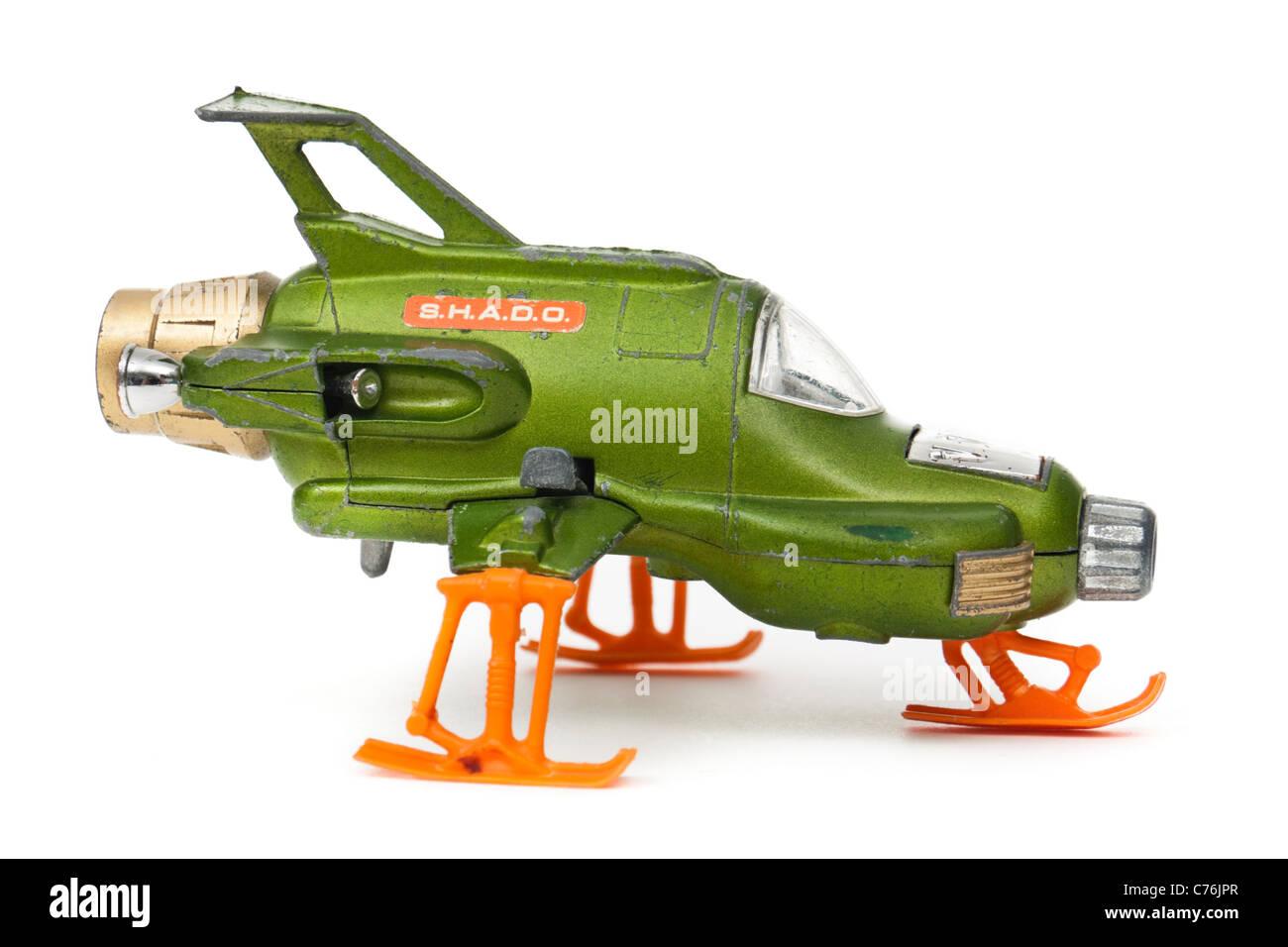 Original 1971 Dinky Toys 351 UFO Interceptor Raumschiff, basierend auf der TV-Serie von UFO Stockbild
