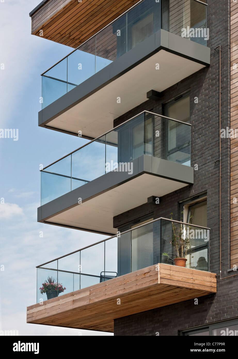 Halbinsel Stadt Wohnungen in Greenwich, London. Stockbild