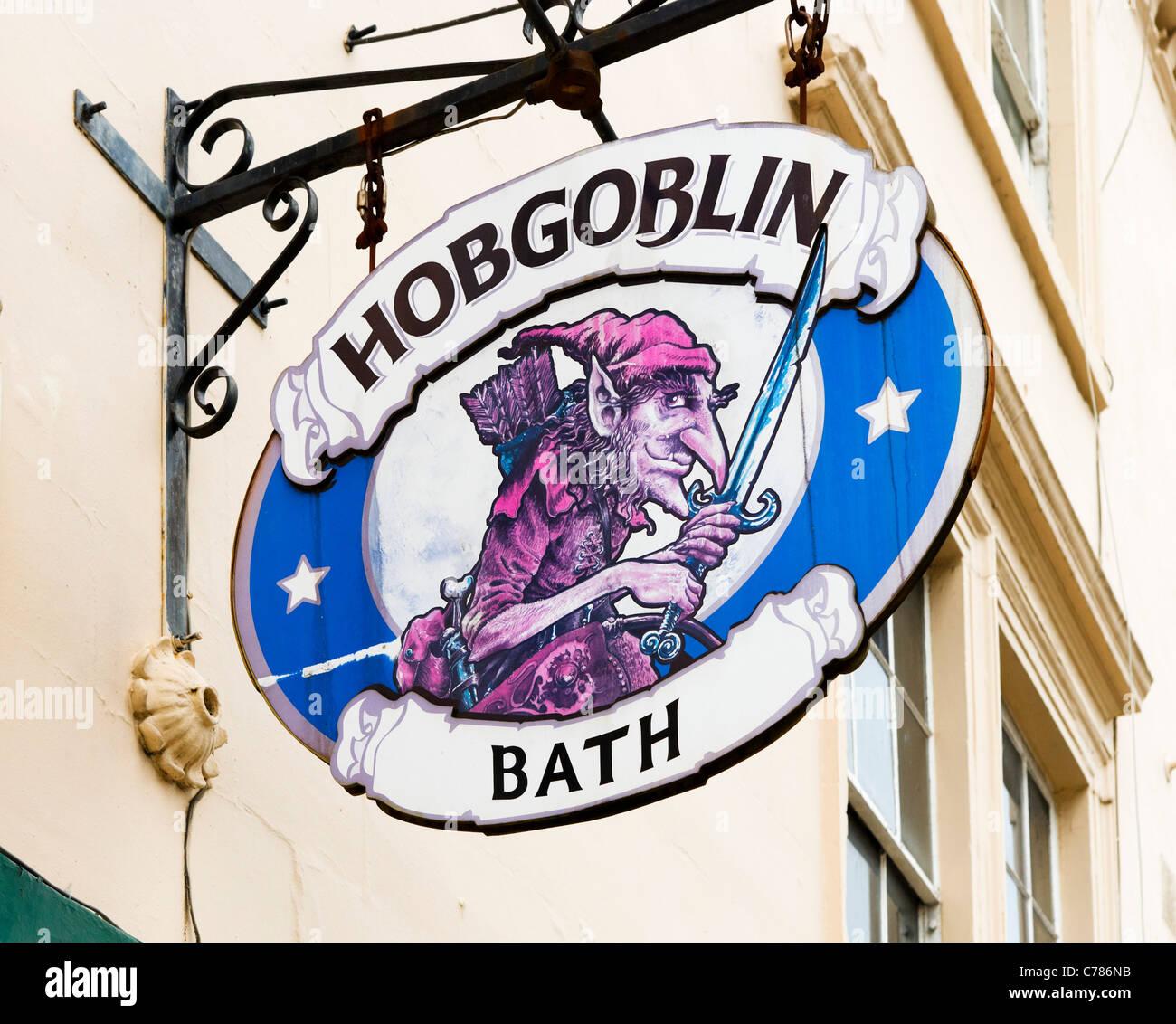 Melden Sie sich für die Hobgoblin-Kneipe in der Innenstadt, Bath, Somerset, England, UK Stockbild