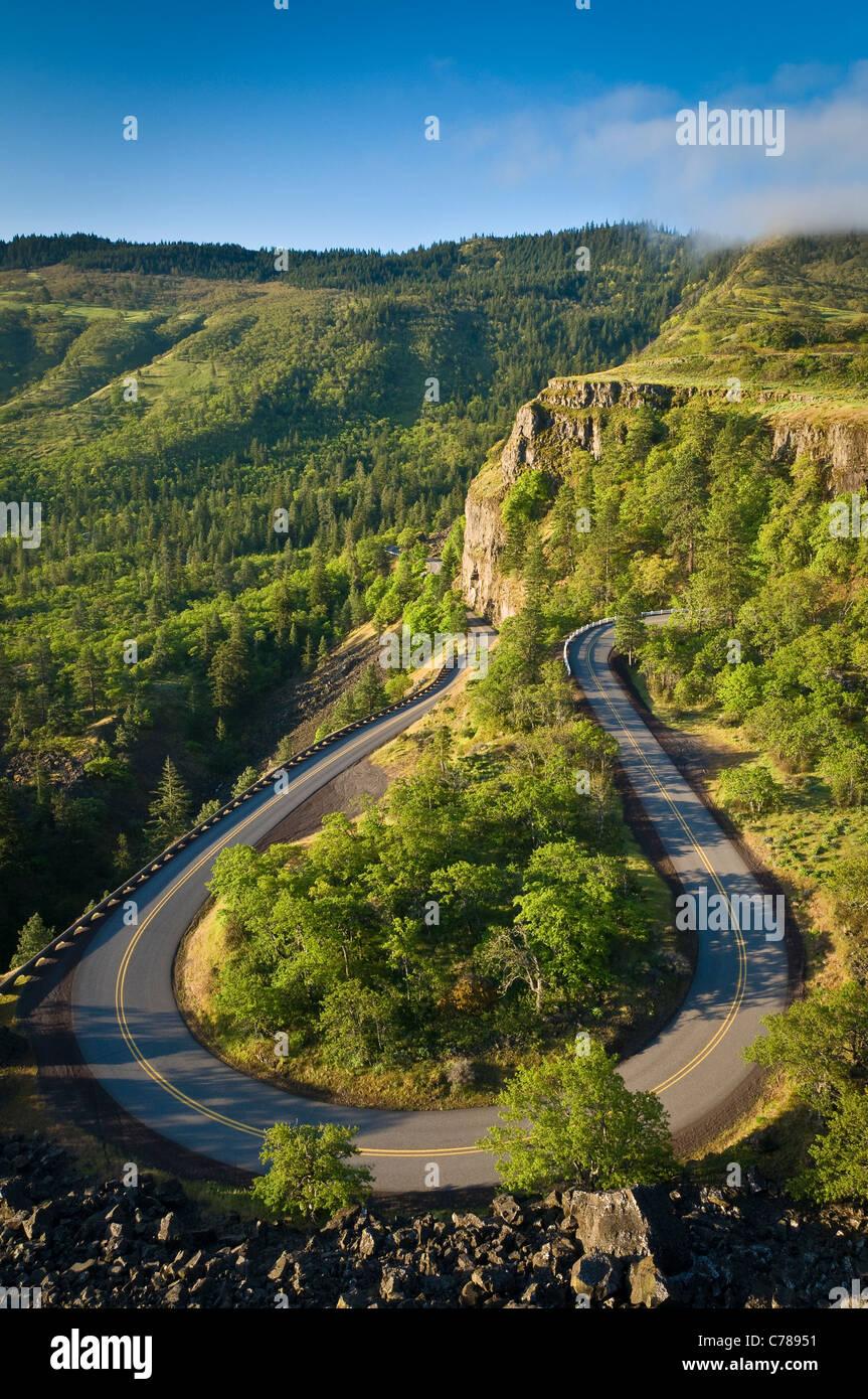 Rowena Loop Road, Columbia River Gorge National Scenic Area, Oregon. Stockbild