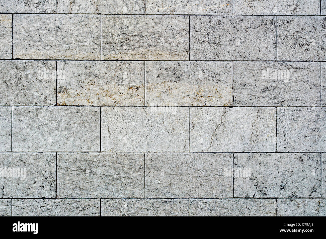 Textur von alten Steinmauern als Hintergrund Stockbild