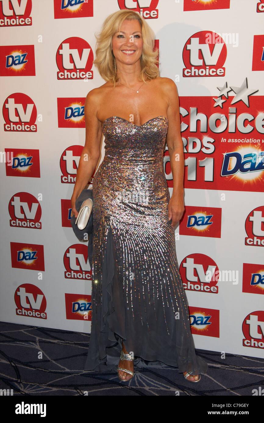 TV Choice Awards London Gillian Taylforth Stockbild