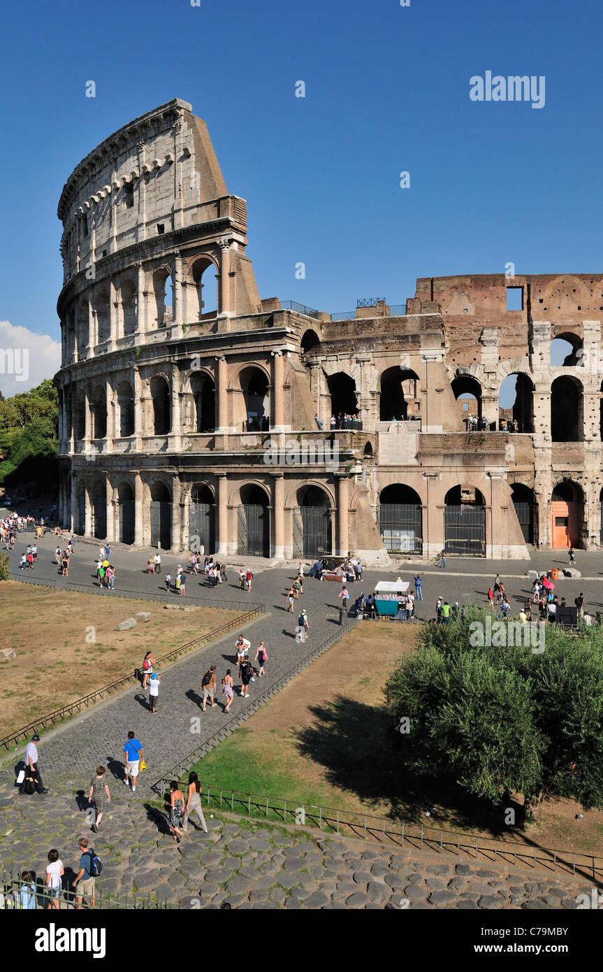 Rom. Italien. Das Kolosseum. Stockbild