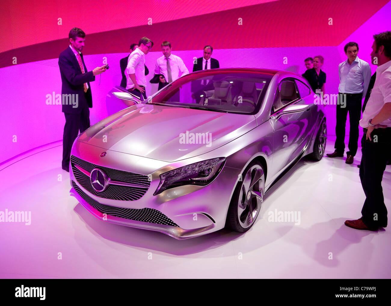 Neue Mercedes-Benz A-Klasse Concept auf der IAA 2011 International Motor Show in Frankfurt Am Main, Deutschland Stockbild