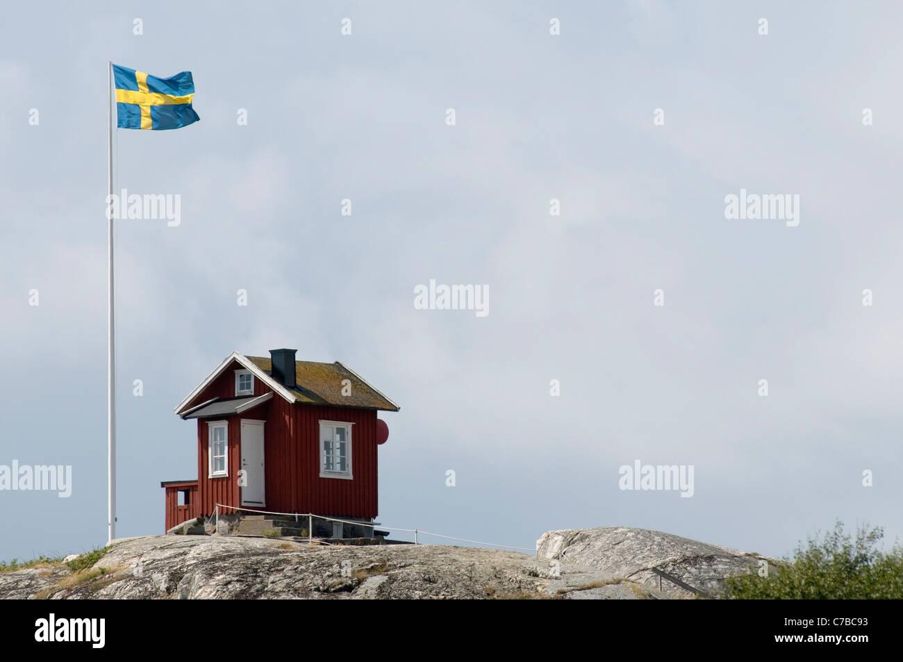 archipel inselgruppen g teborg g teborg roten schwedenhaus kleine h tte falun farbe flagge. Black Bedroom Furniture Sets. Home Design Ideas