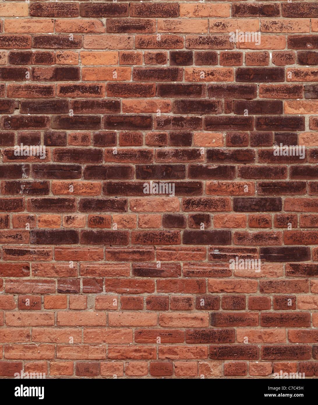 Alte rote Ziegel Wand Textur Hintergrund. Hohe Auflösung qualitativ hochwertige Foto. Stockbild