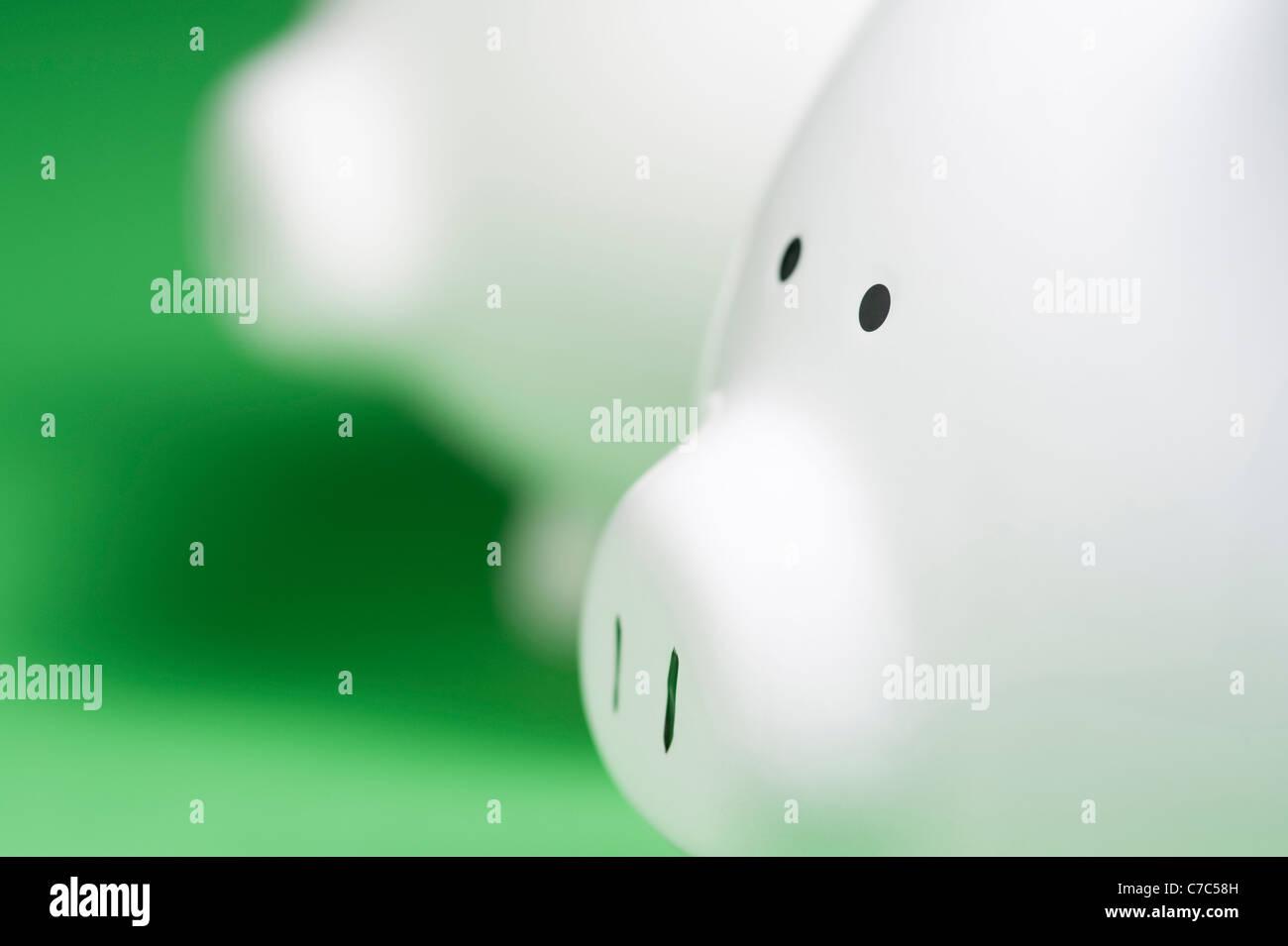 Nahaufnahme von Sparschwein Stockfoto