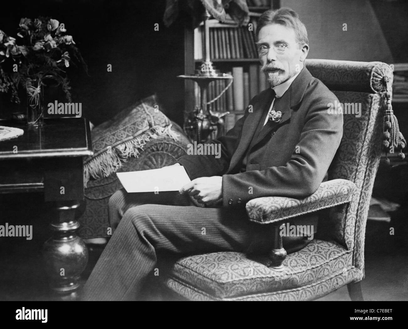 Dänischen Physiologen August Krogh (1874-1949) - Sieger des Nobelpreises in der Physiologie oder Medizin im Stockbild