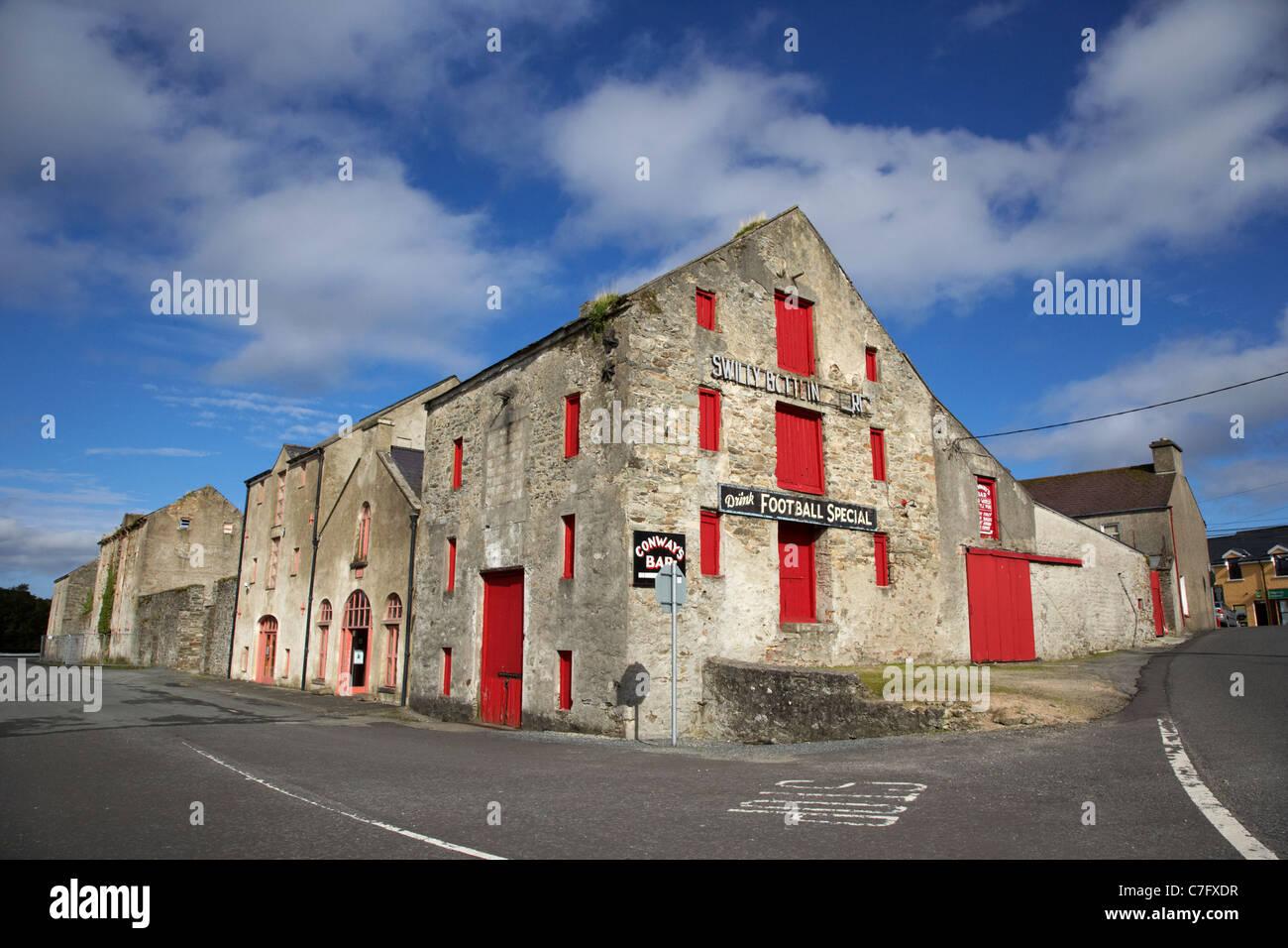 Ancestry-Zentrum und swilly Abfüllung Läden in den alten Lagerhallen Ramelton Grafschaft Donegal, Republik Stockbild