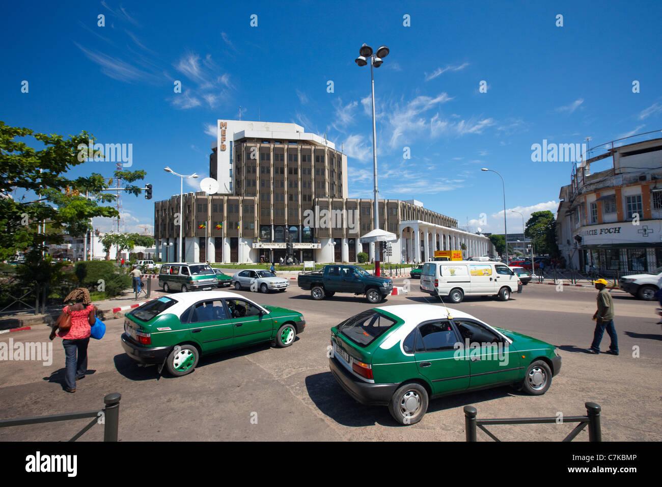 Ministère de L'Economie des finanziert et du Budget (Finanzministerium), Brazzaville, Republik Kongo Afrika Stockbild