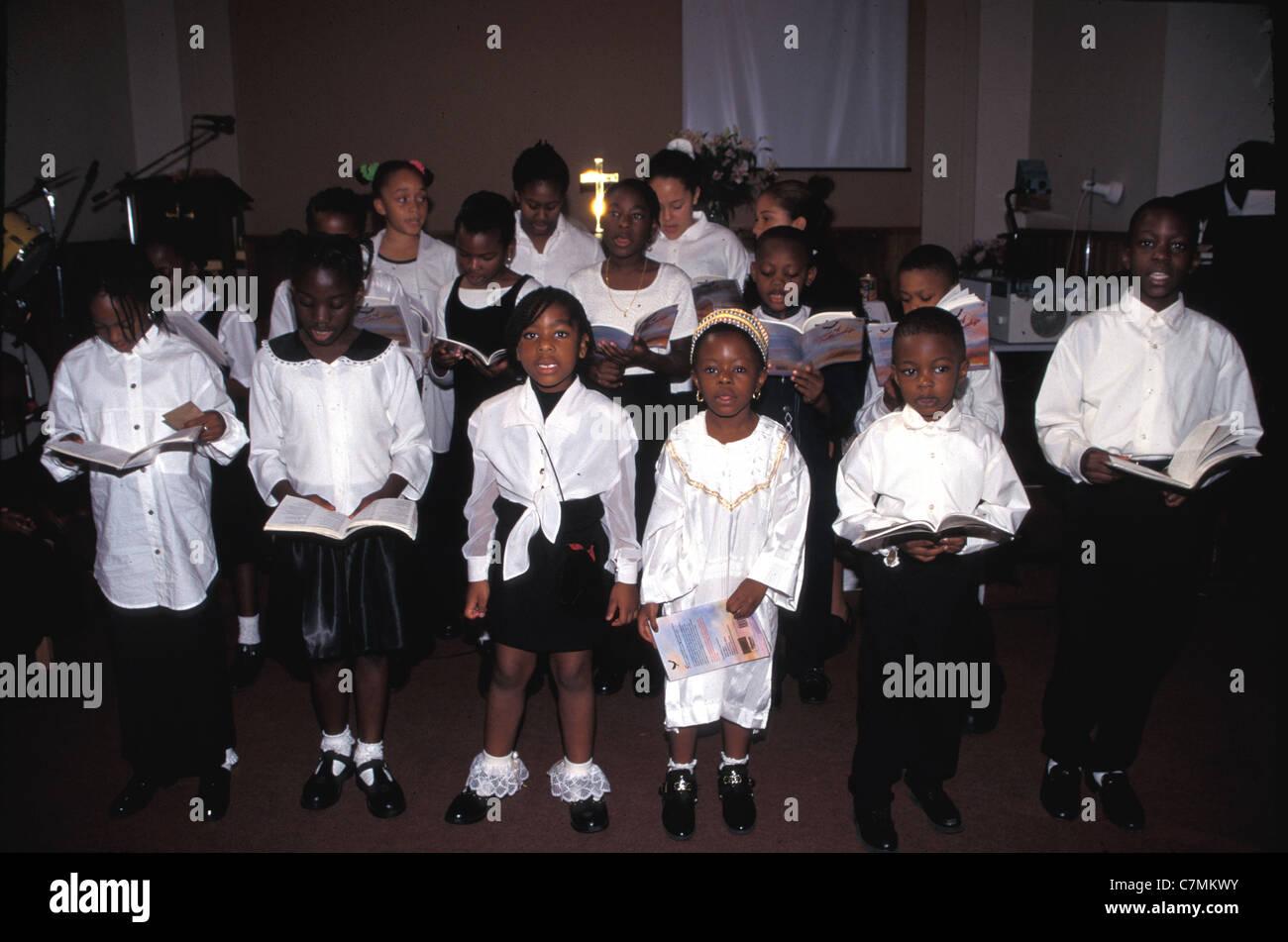 schwarzen Chor Religionen christliche Gottesdienst United Reformed church Stockbild