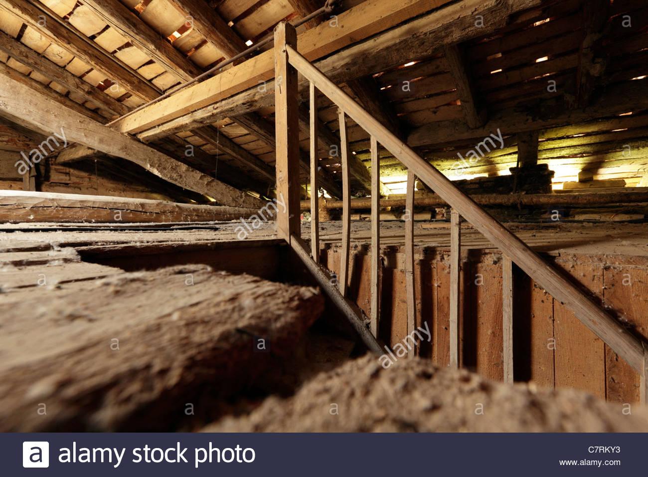 Sympathisch Dachboden Galerie Von Rohe Dachraum Mit Treppe