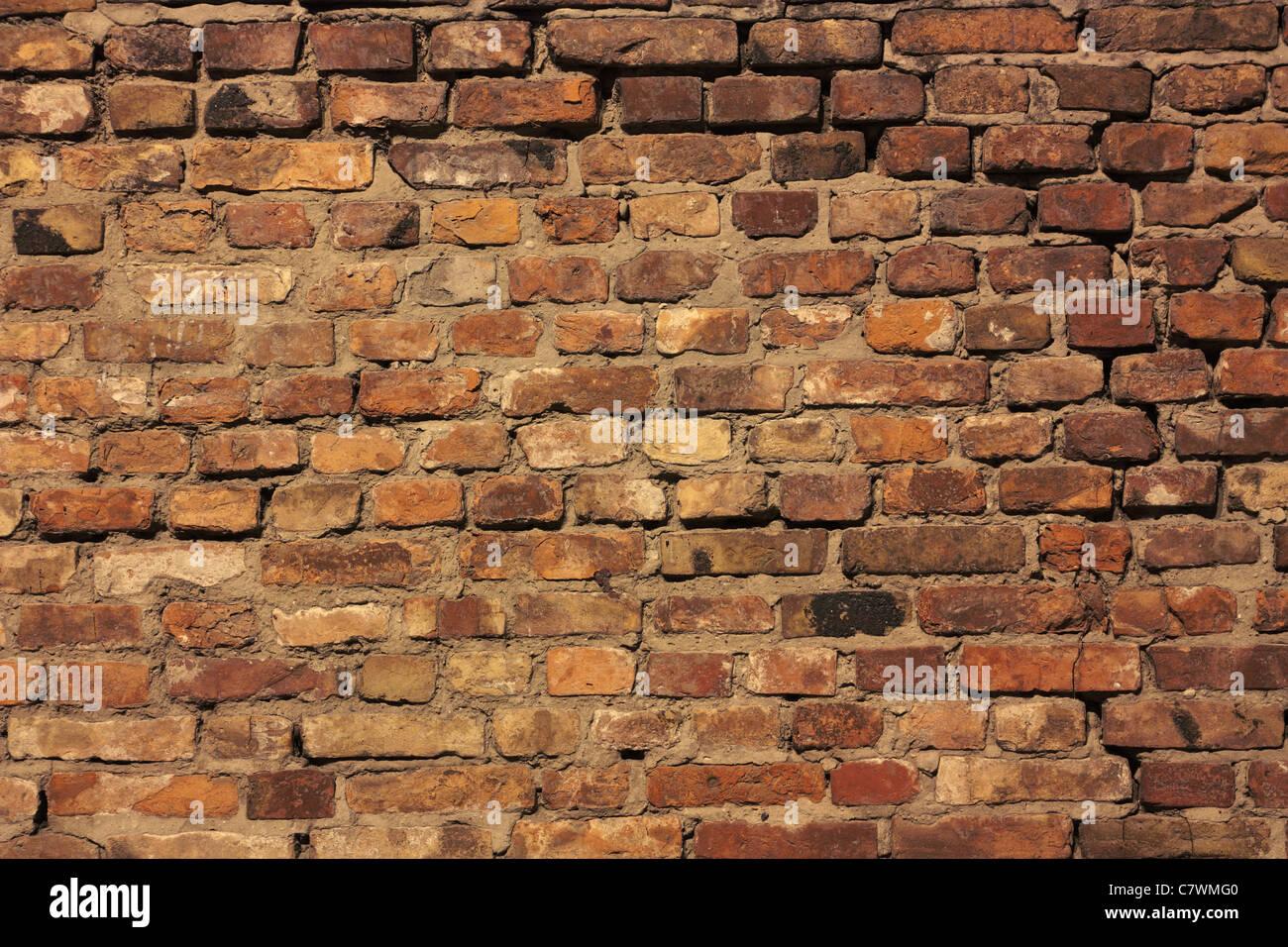 Detail von den Backstein-Mauern des alten Stockbild