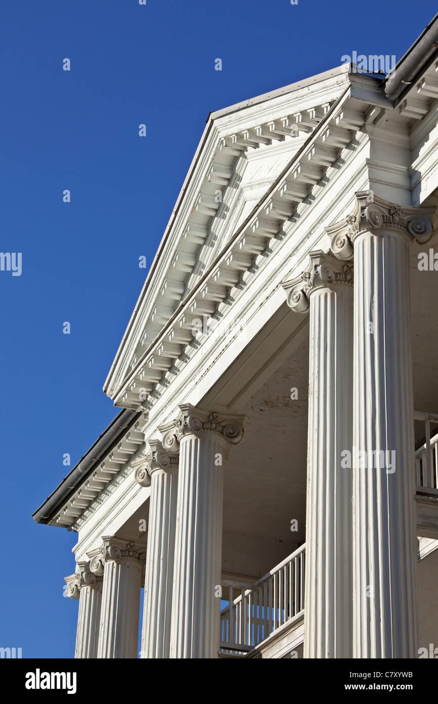 Kanada, Ontario, Queenston. Willowbank ist eine neoklassizistische Haus im Jahre 1834 erbaut und als eine National Stockbild