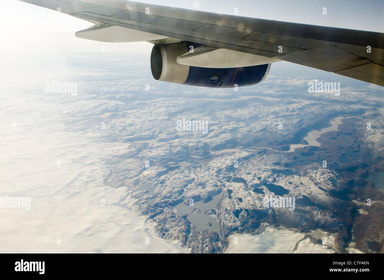 der arktischen Eiskappe hinterlässt Stockbild