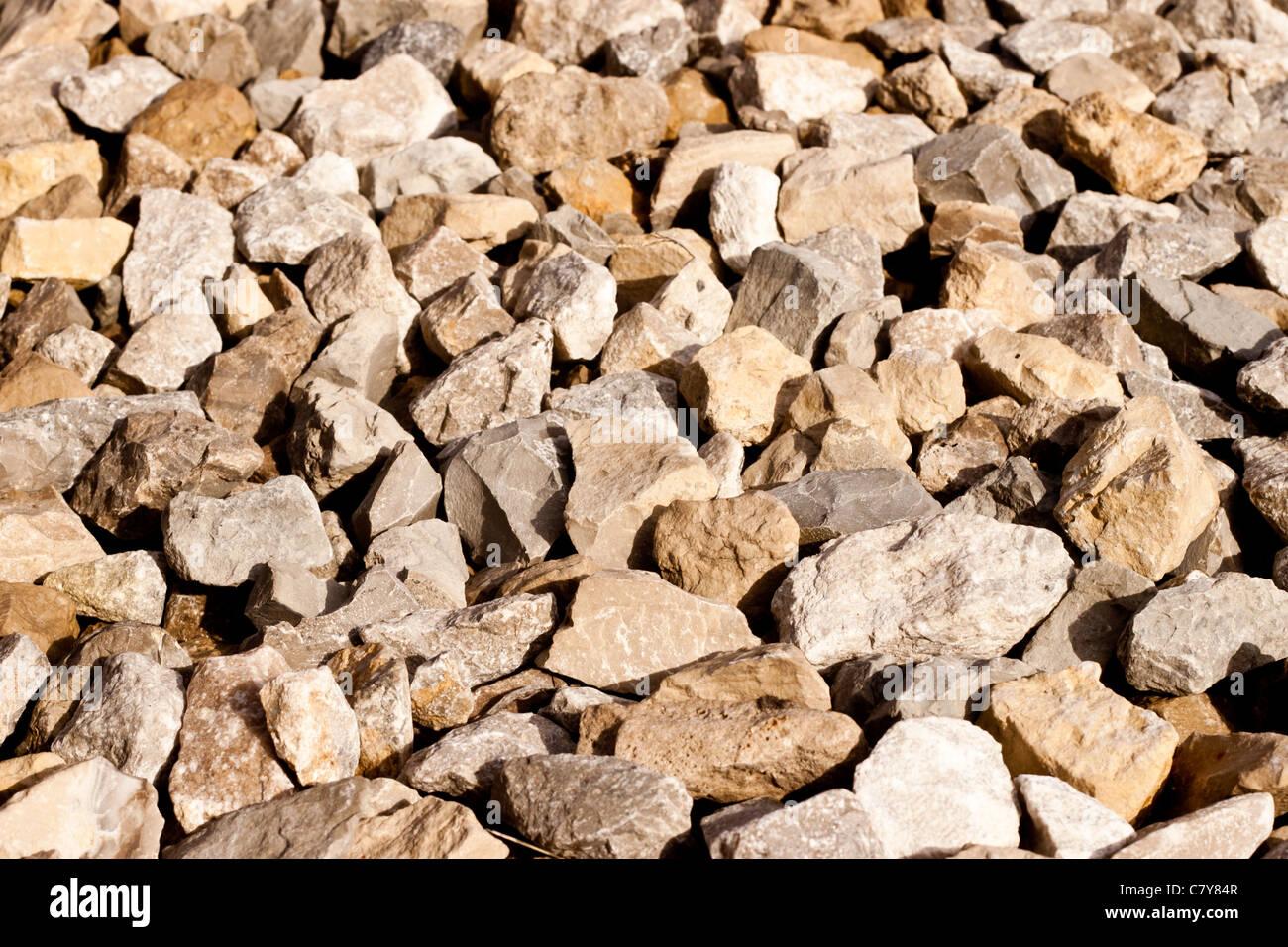 Großen Kies Felsen Bestimmt Für Einfahrten Und Andere Projekte Stockbild