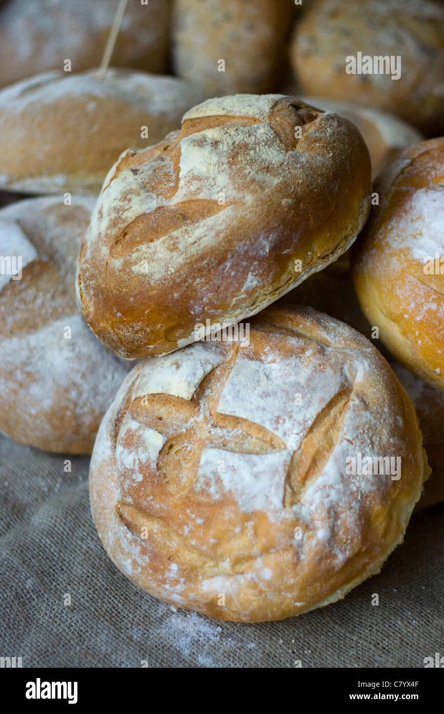 Brote in Cheltenham Farmers Market Stockbild