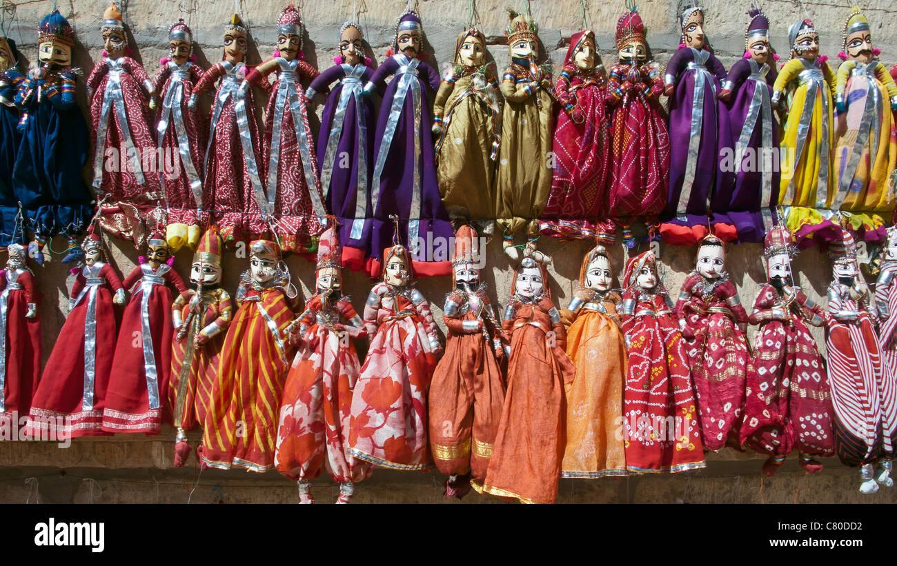 Traditionelle Puppen Jaisalmer, Rajasthan Indien Stockfoto