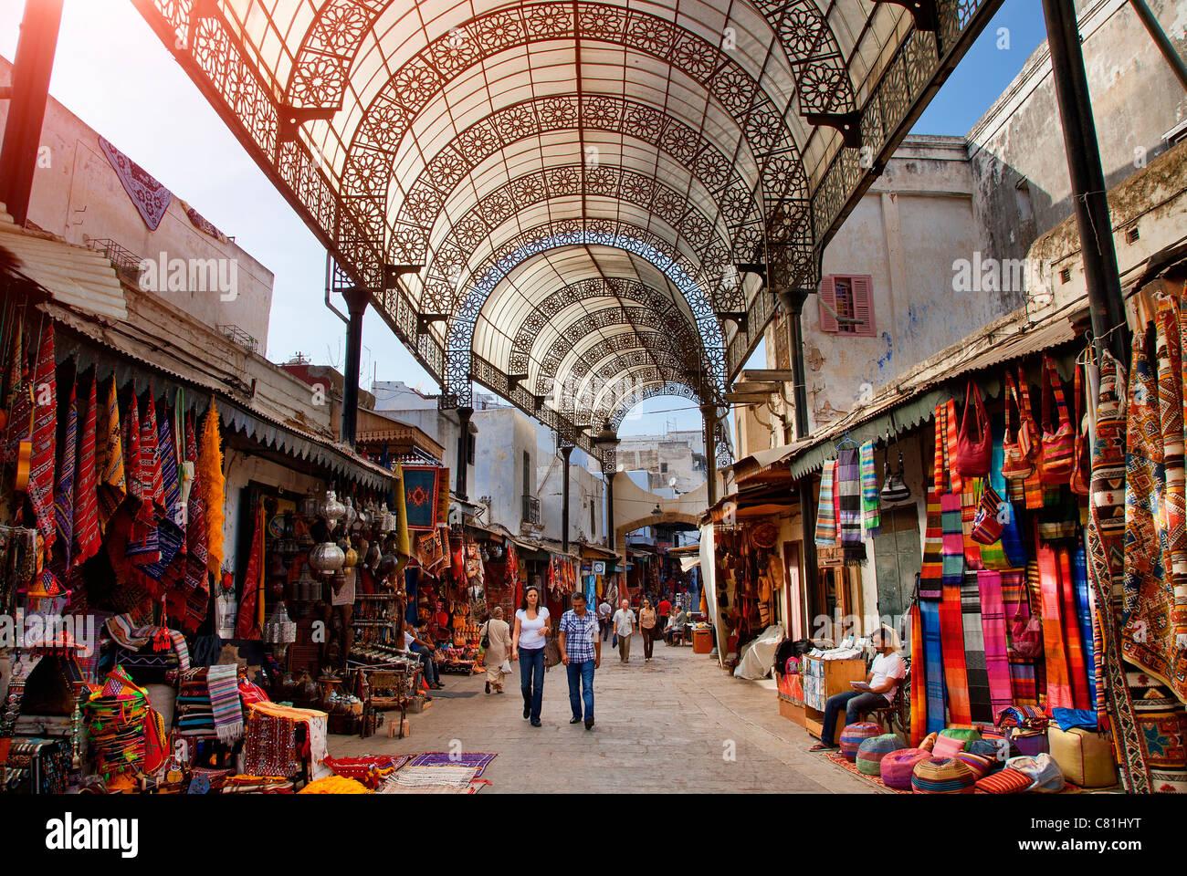 Marokko, Rabat, Rue des Consuls in der Medina Stockbild
