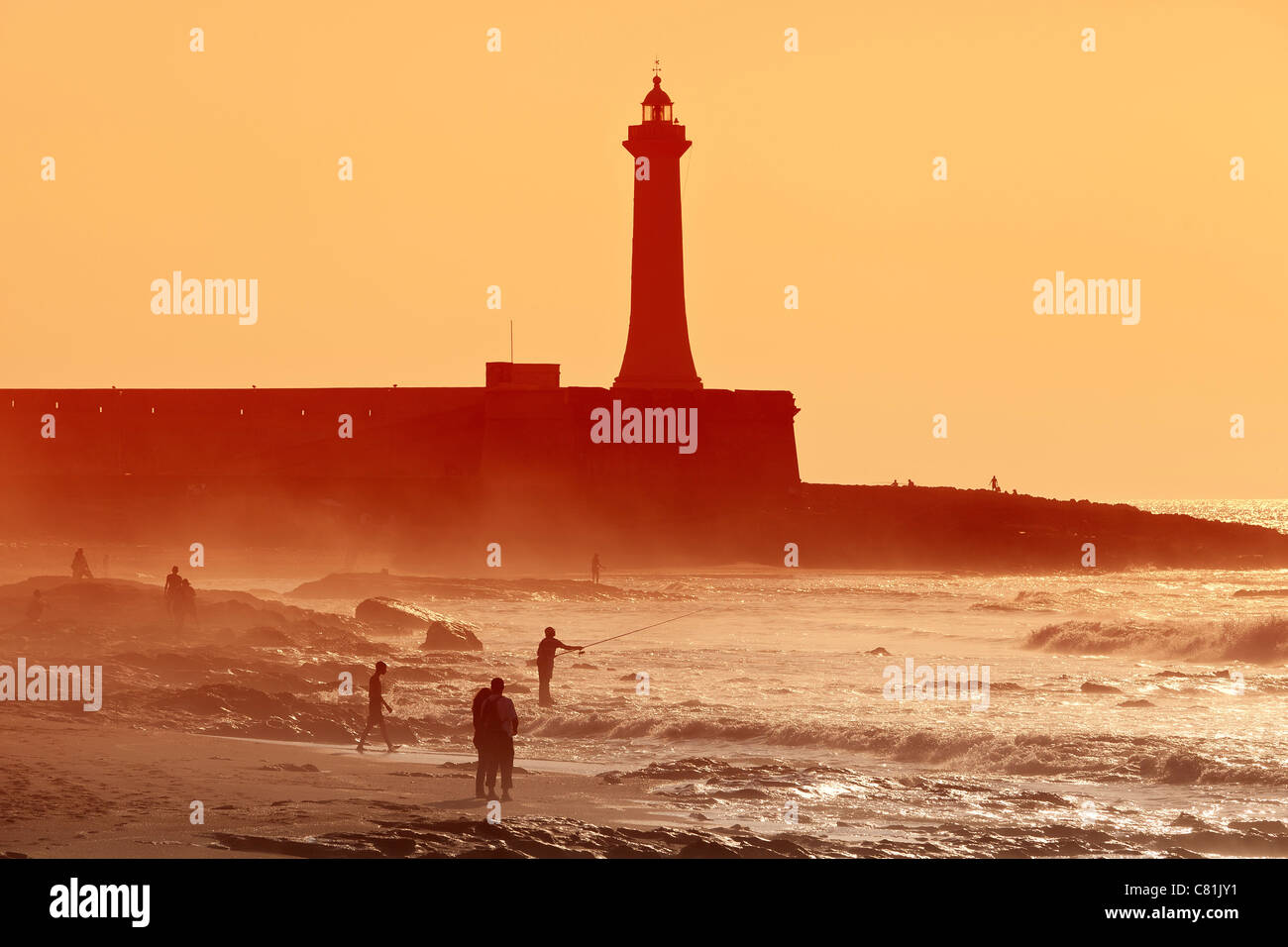 Strand von Rabat Marokko Stockbild