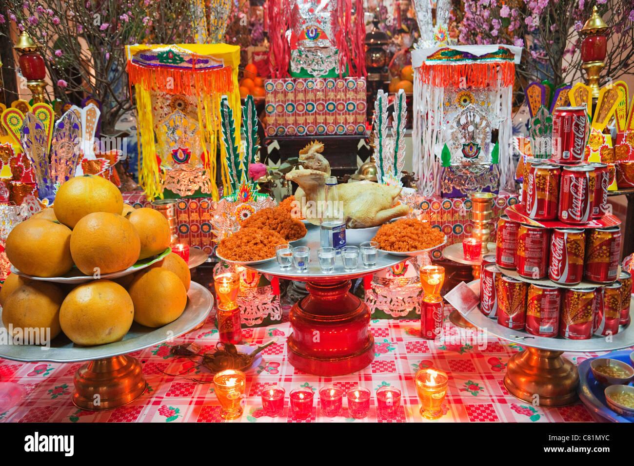 Vietnam, Hanoi, Bach-Ma-Tempel, typische taoistischen Tempel ...