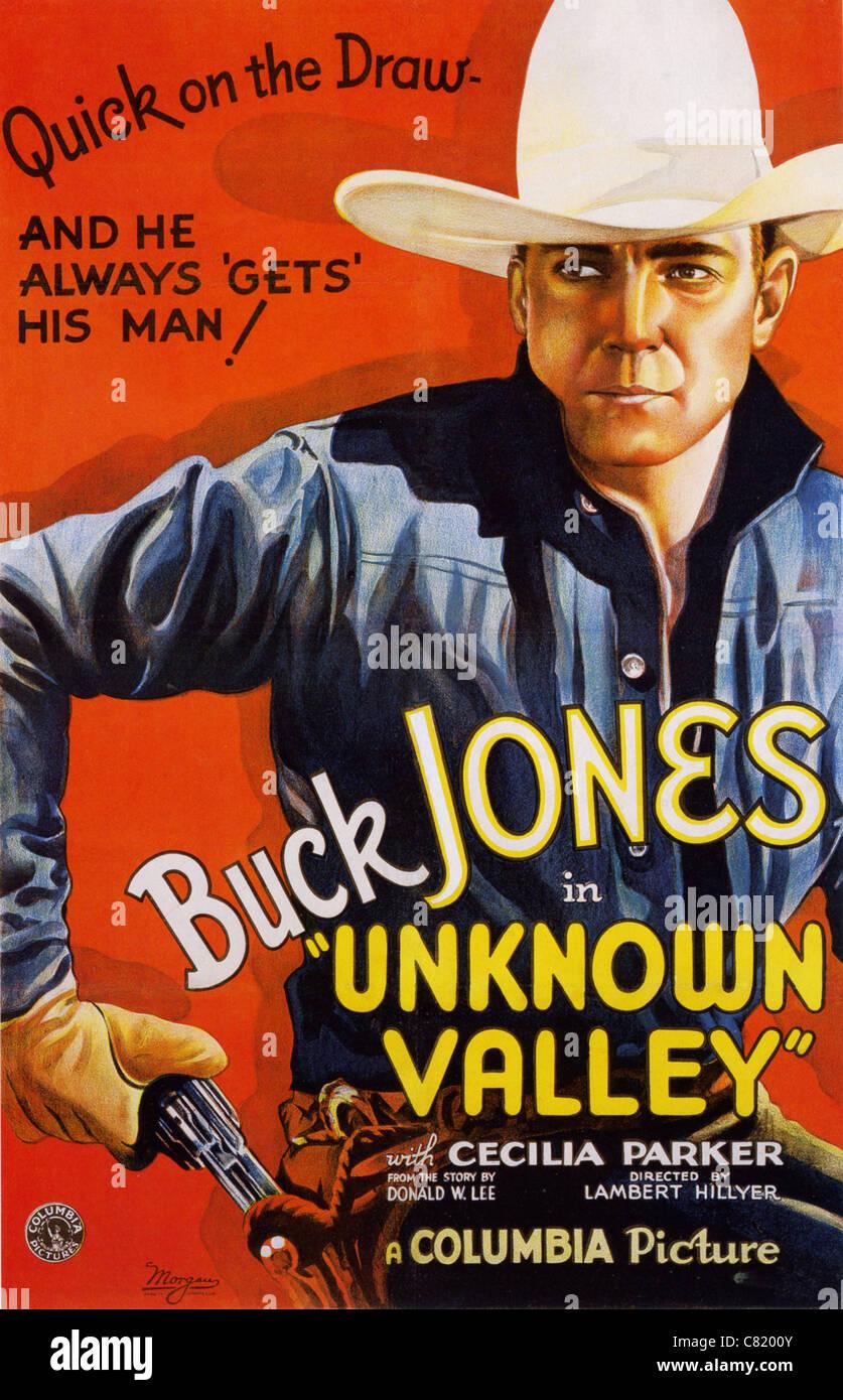 UNBEKANNTE Tal Poster für 1933 Columbia film mit Buck Jones Stockbild