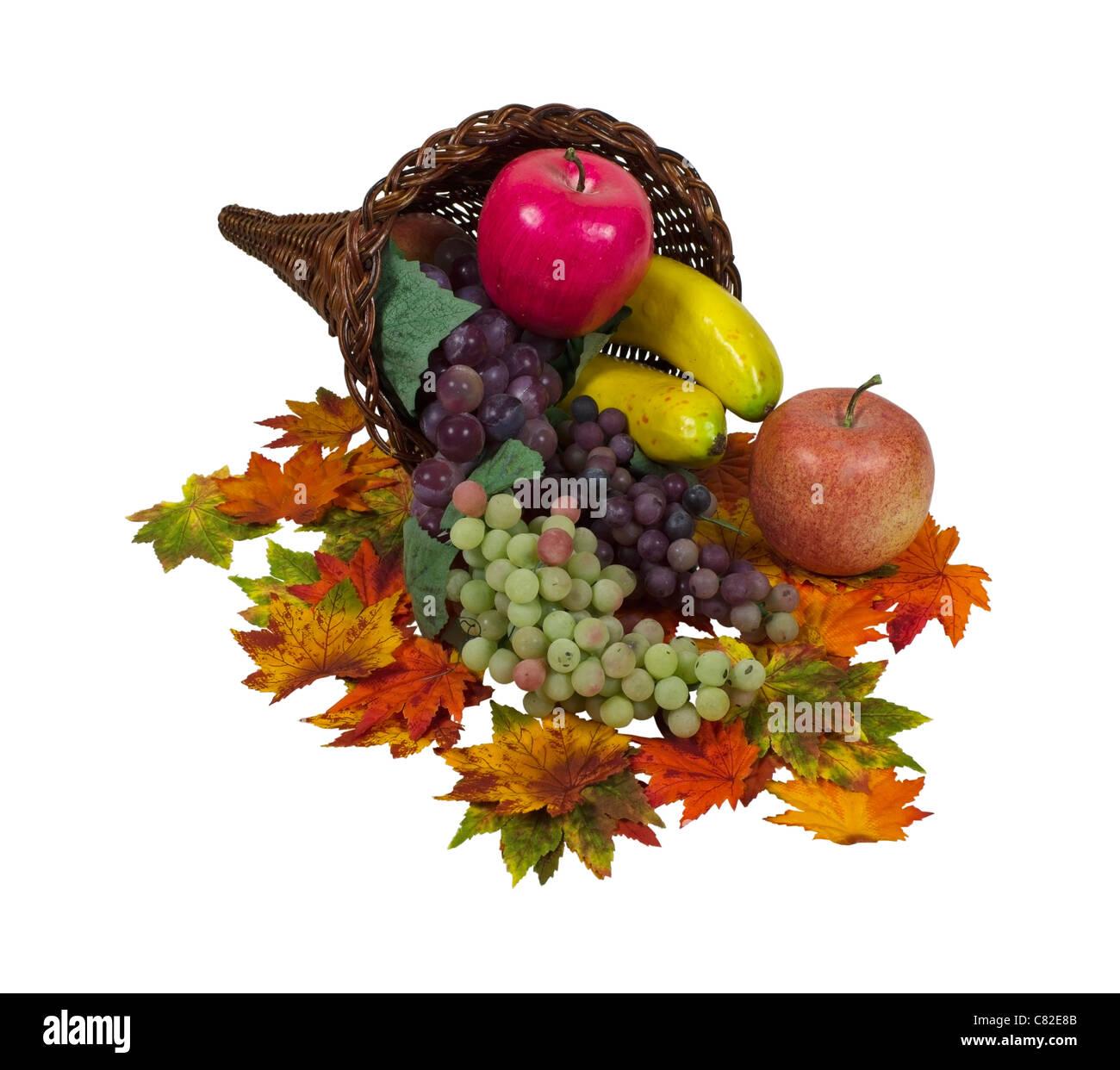 Füllhorn reichlich Obst garniert mit Blätter - Pfad enthalten ...