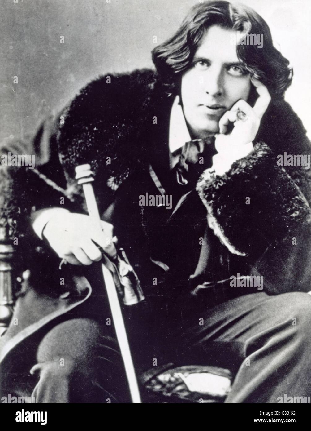 OSCAR WILDE (1854-1900), irischer Schriftsteller und Dichter Stockbild