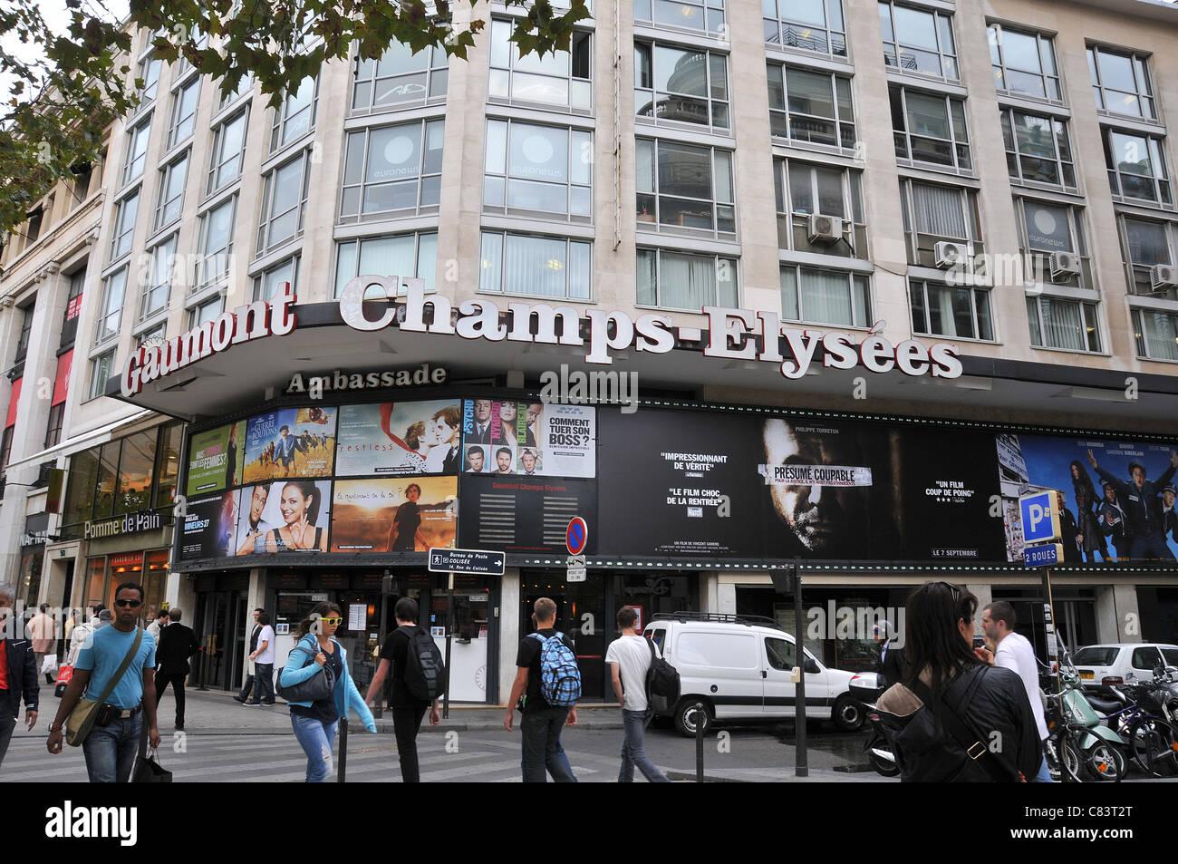 Gaumont Champs-Elysée Cinema Paris Frankreich Stockbild