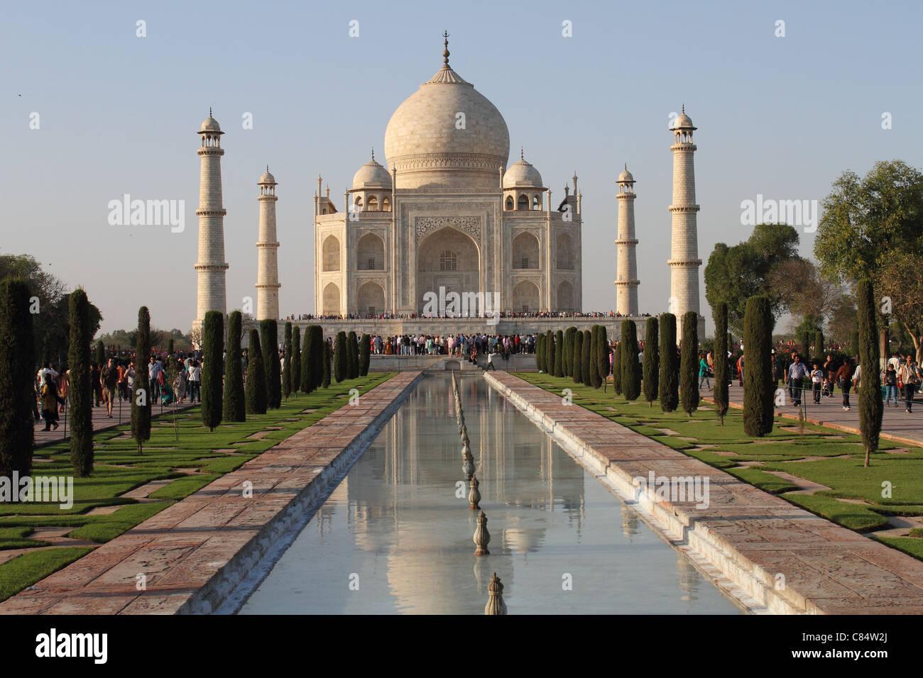 detaillierte Ansicht Taj Mahal Agra Indien Stockbild