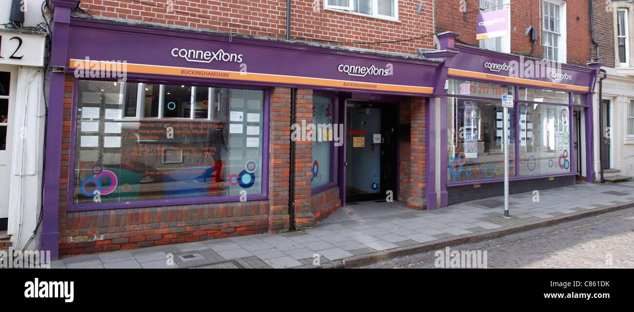 Einen Überblick über die Connexions Büros in Aylesbury, Buckinghamshire Stockbild