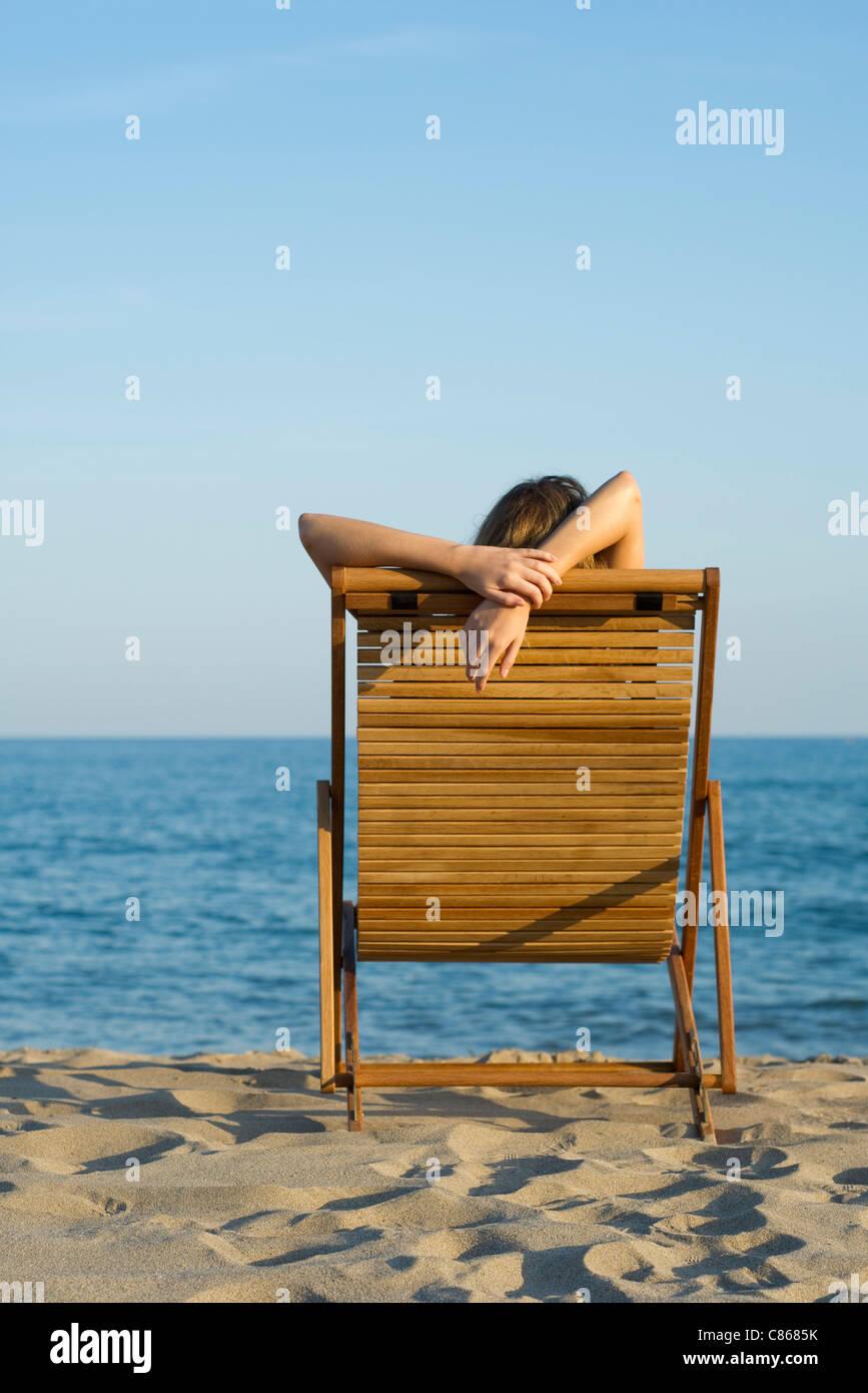deckchair stockfotos deckchair bilder alamy. Black Bedroom Furniture Sets. Home Design Ideas