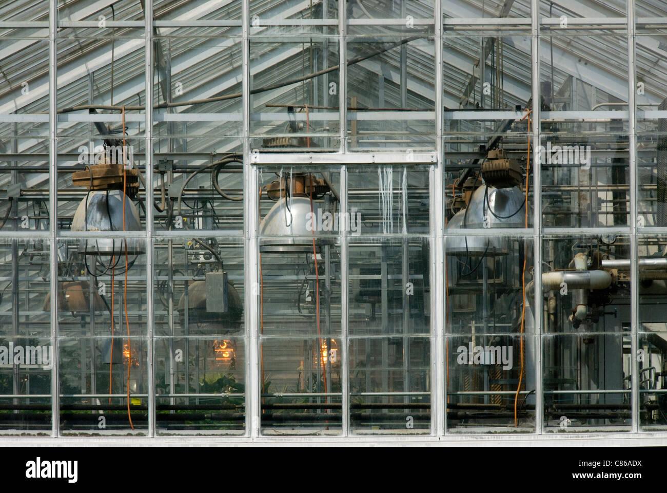 Experimentelle Glashaus, University of Illinois, Urbana, Illinois, USA Stockbild