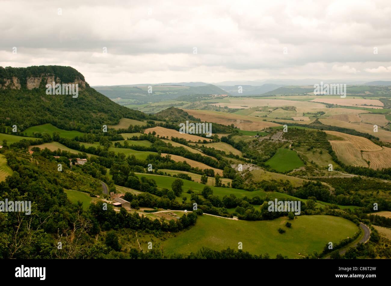 Plateau du Larzac; Aveyron in den Midi-Pyrenäen; Frankreich Stockbild