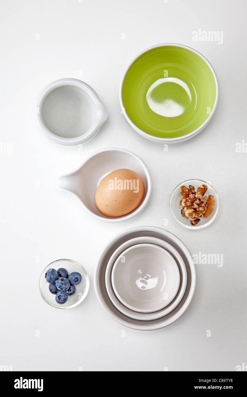 kleine Portionen von gesunden Snacks Stockbild