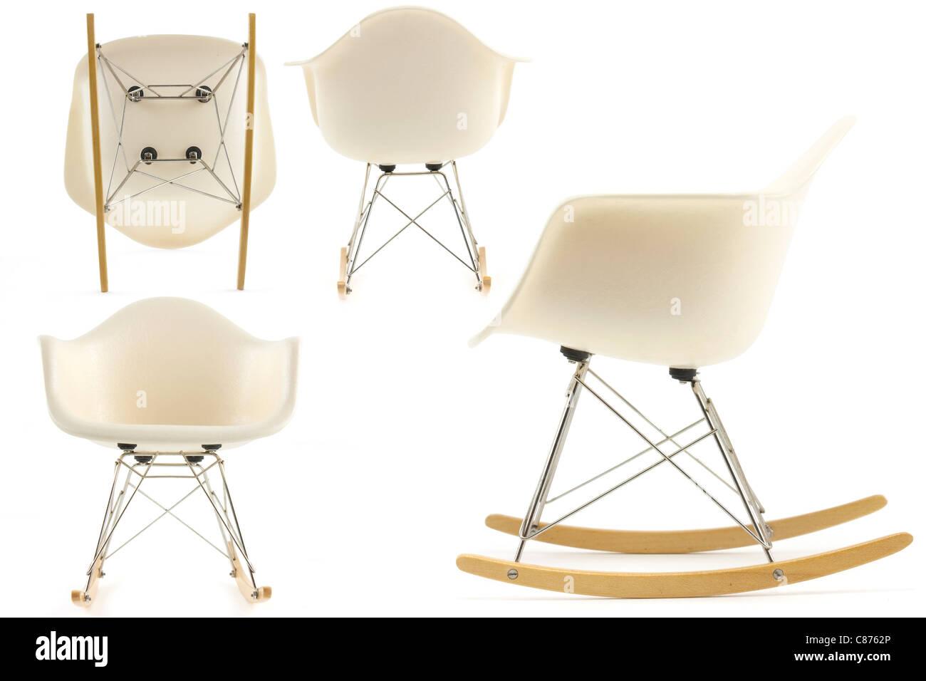 Modernes Design Klassiker Eames Schaukelstuhl Setzen Auf Weissem
