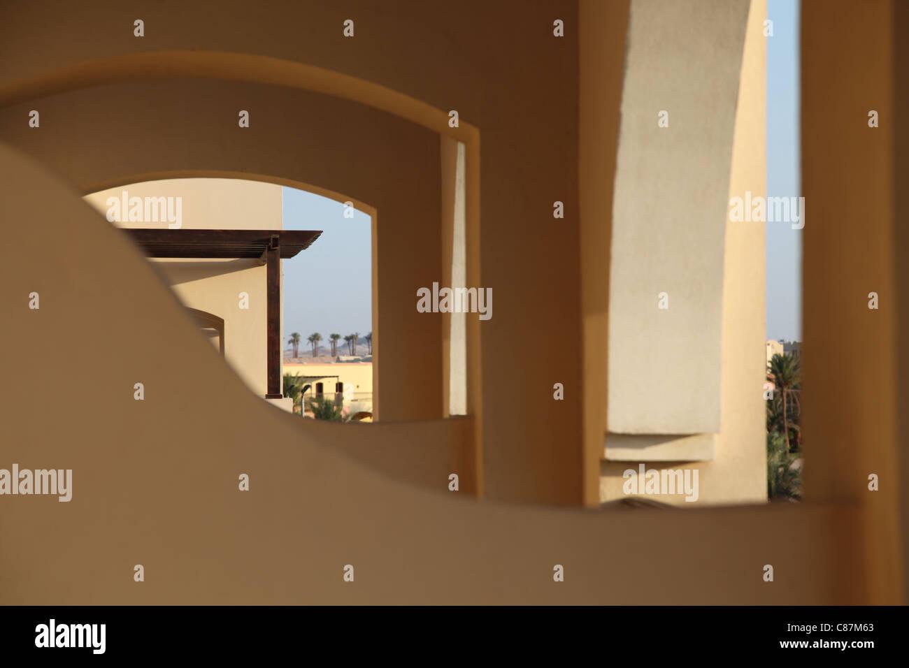 Wüstenarchitektur, Wüste Architektur, Ägypten, Ägypten Stockbild