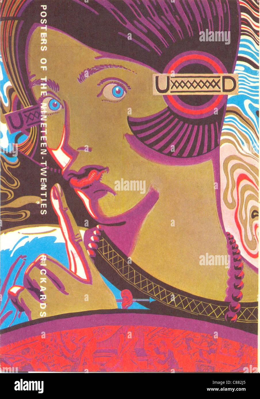 Plakate der zwanziger von Maurice Rickards Stockbild