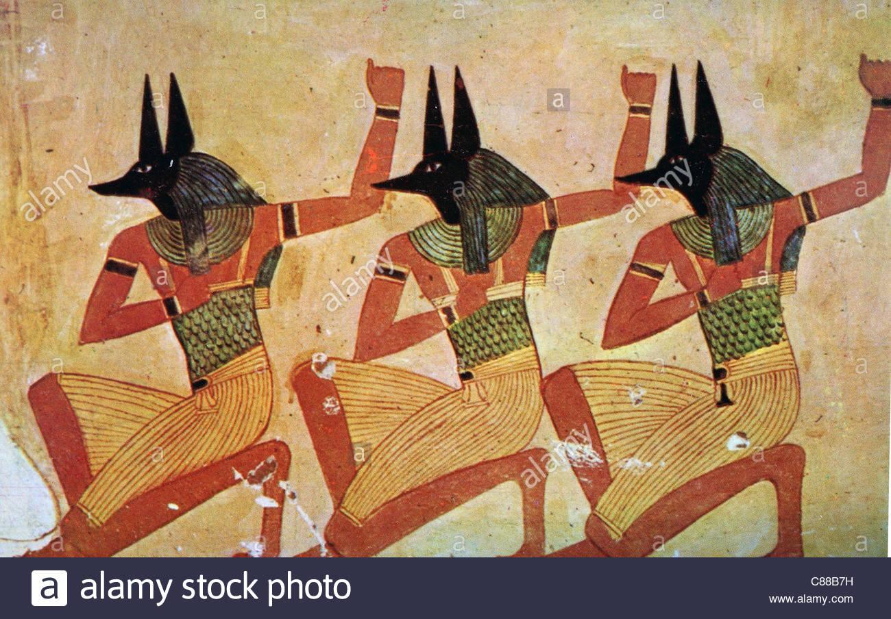 Moderne Kunstwerke moderne kunstwerke anubis der schakal kopf gott verbunden mit